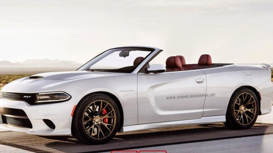 Dodge Charger SRT Hellcat Convertible rendered, looks surprisingly good