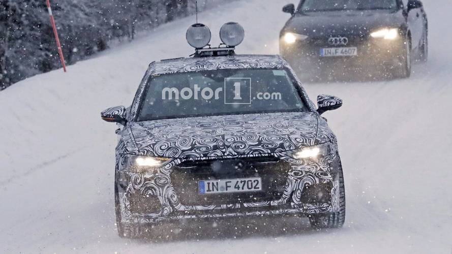 2019 Audi A6 spied with production lights