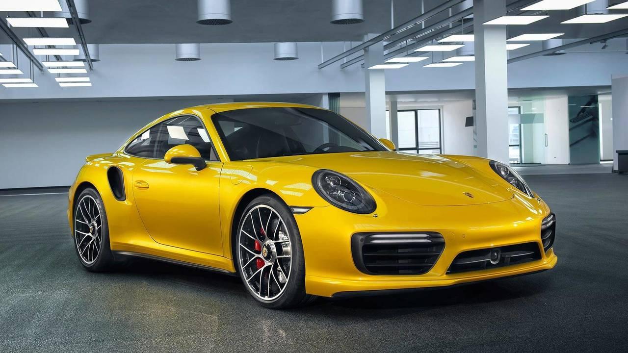 Porsche 911 Turbo Yellow Saffron Metallic Paint