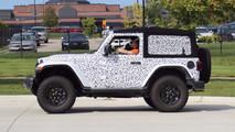 Jeep Wrangler Rubicon spy photo