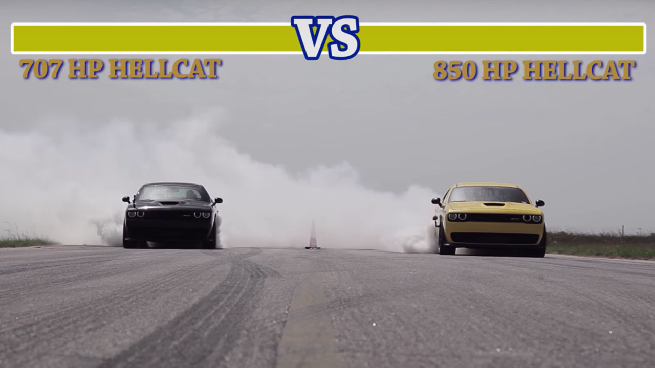 Hennessey Challenger Drag race