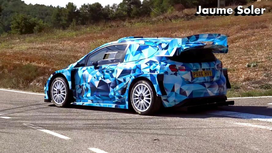 2017 Ford Fiesta WRC asfaltta test yaparken görüntülendi