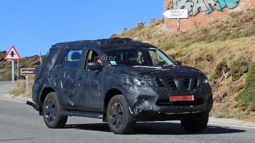 Nissan Navara SUV spied with production body