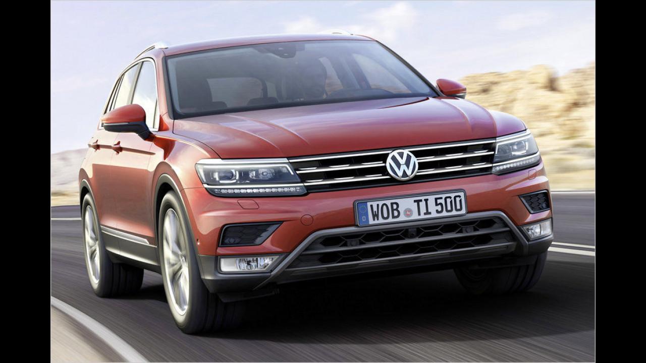 VW Tiguan: 58.978 Neuzulassungen im Jahr 2015