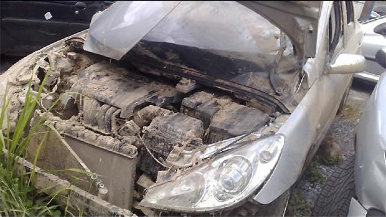 """Peugeot foi para o brejo: cliente """"enganado"""" adquire carro que caiu na lagoa"""