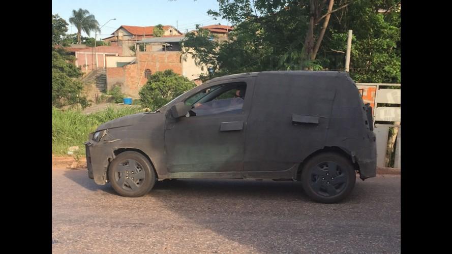 Flagra! Novo compacto da Fiat (X1H) terá porte do velho Mille