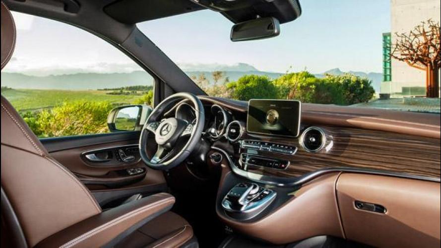 Mercedes Classe V, italiana dentro