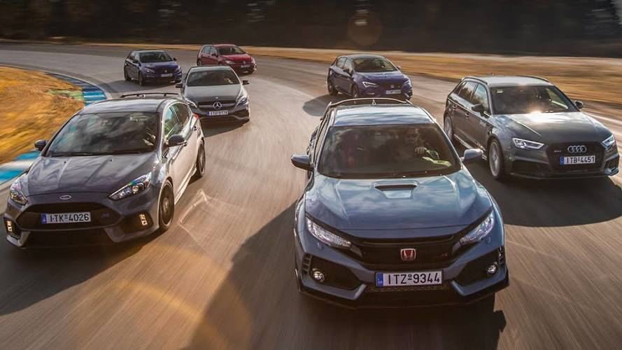 Seven Hot Hatches Hit The Track For Best Lap Time