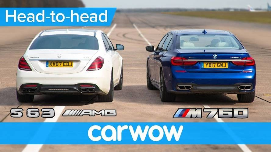 Mercedes-AMG S63 And BMW M760 Duke It Out In Drag, Rolling Races