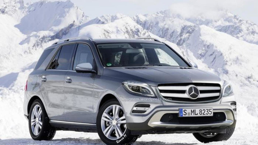 2015 Mercedes M-Class facelift rendered