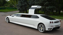 Peugeot 406 transformed into Ferrari limo