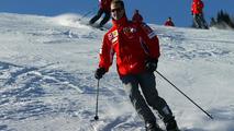 Michael Schumacher skiing at Wrooom annual Ski Press Meeting in Madonna di Campiglio Italy 12.01.2005
