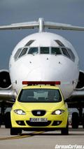 SEAT Altea greets aircraft landing at Barcelona