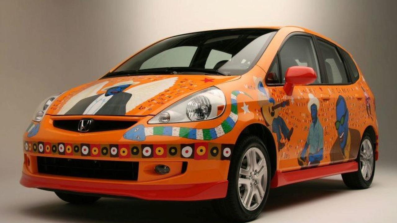 Unique Honda Fit House of Blues Art Car