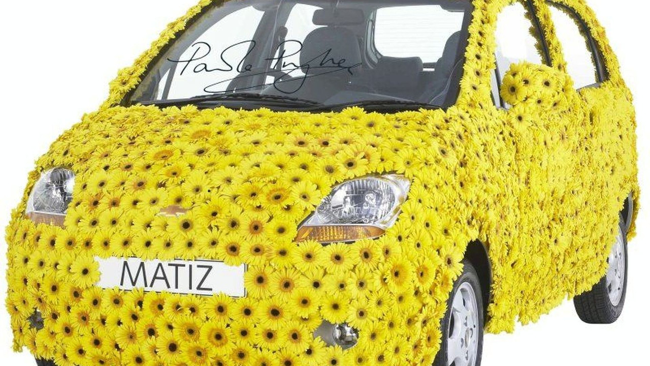 Chevrolet Matiz Limited Edition covered in flowers