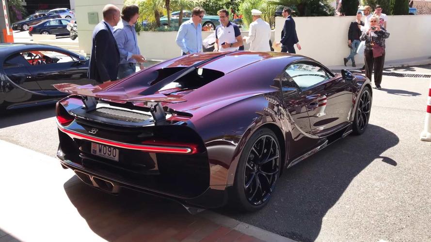 VIDÉO - Une magnifique Bugatti Chiron carbone rouge à Monaco