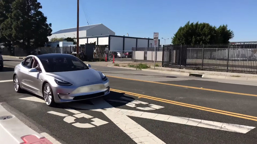 Tesla Model 3 Spy Video
