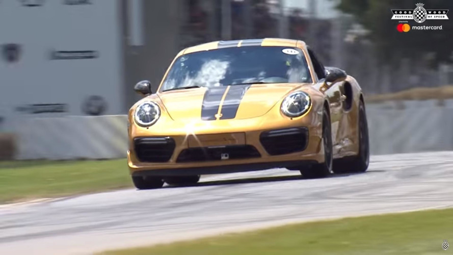 Porsche 911 Turbo S Exclusive Series In Action At Goodwood