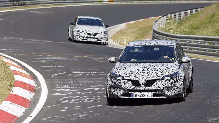 2018 Renault Megane RS new spy images from the Nurburgring