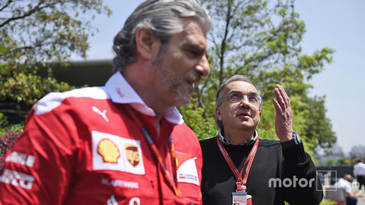 Sergio Marchionneand Maurizio Arrivabene, Ferrari Team Principal