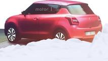 Suzuki Swift 2017 dessin 3D