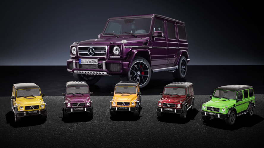Decorate your office with wildly colorful Mercedes-AMG G63s