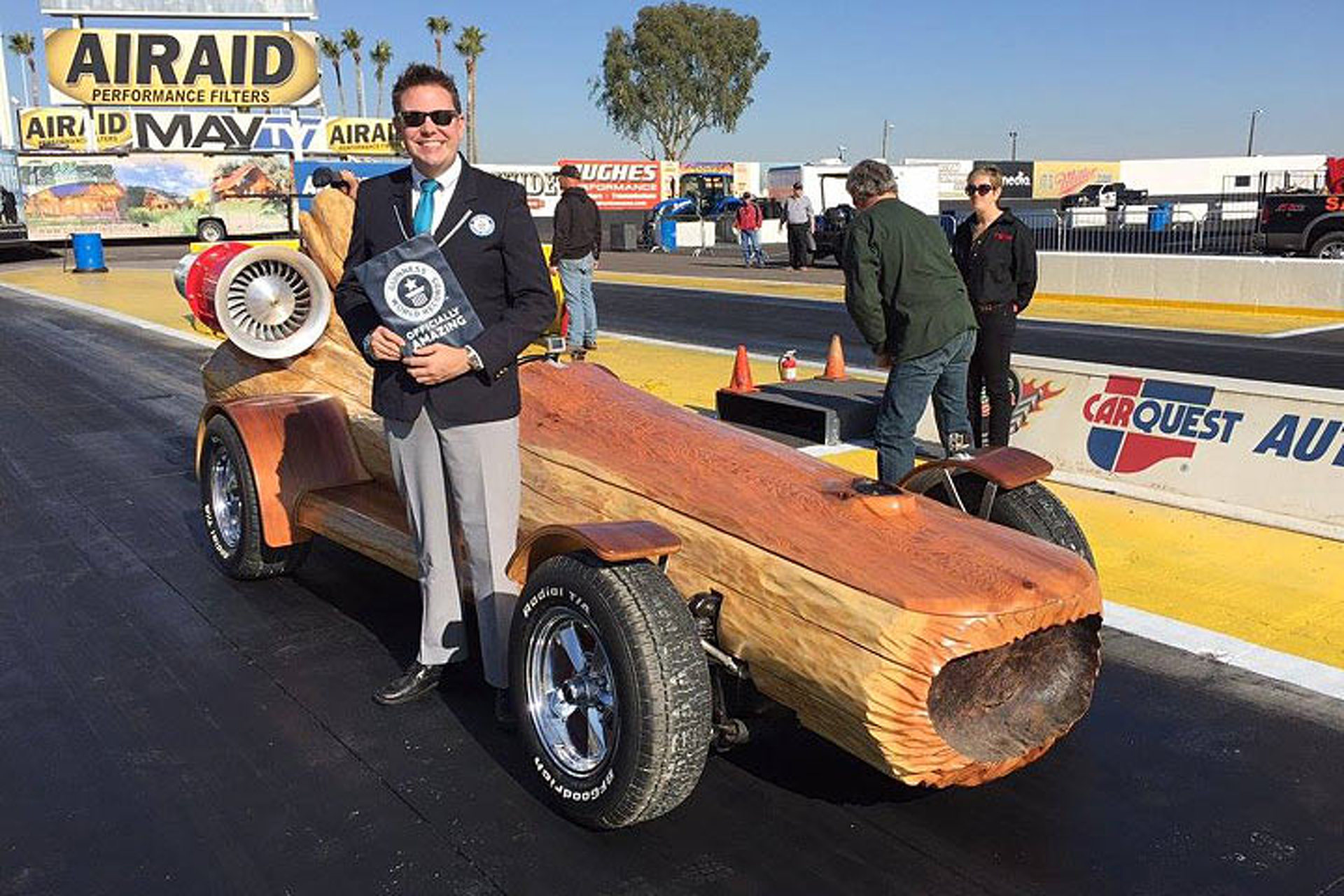 """Timber Kings"" Set the Guinness World Record for the Fastest Log Car"