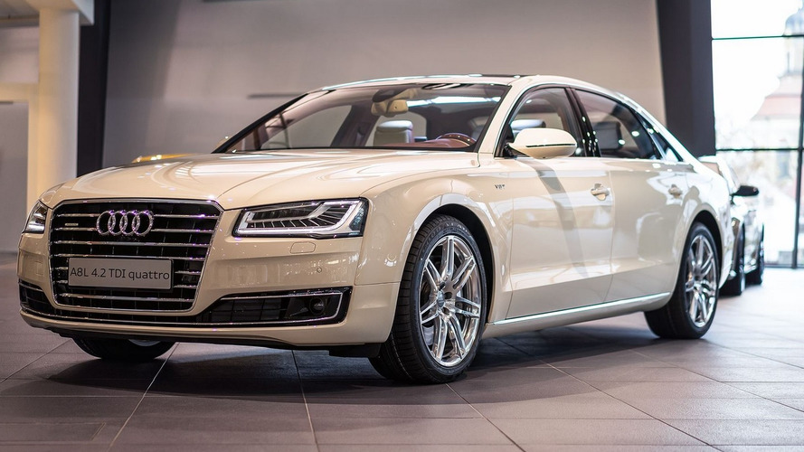 Audi A8 L Magnolia pampered with fancy Exclusive kit