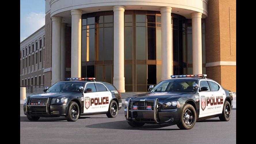 Polizei-Dodge: Mit Volldampf auf Verbrecherjagd