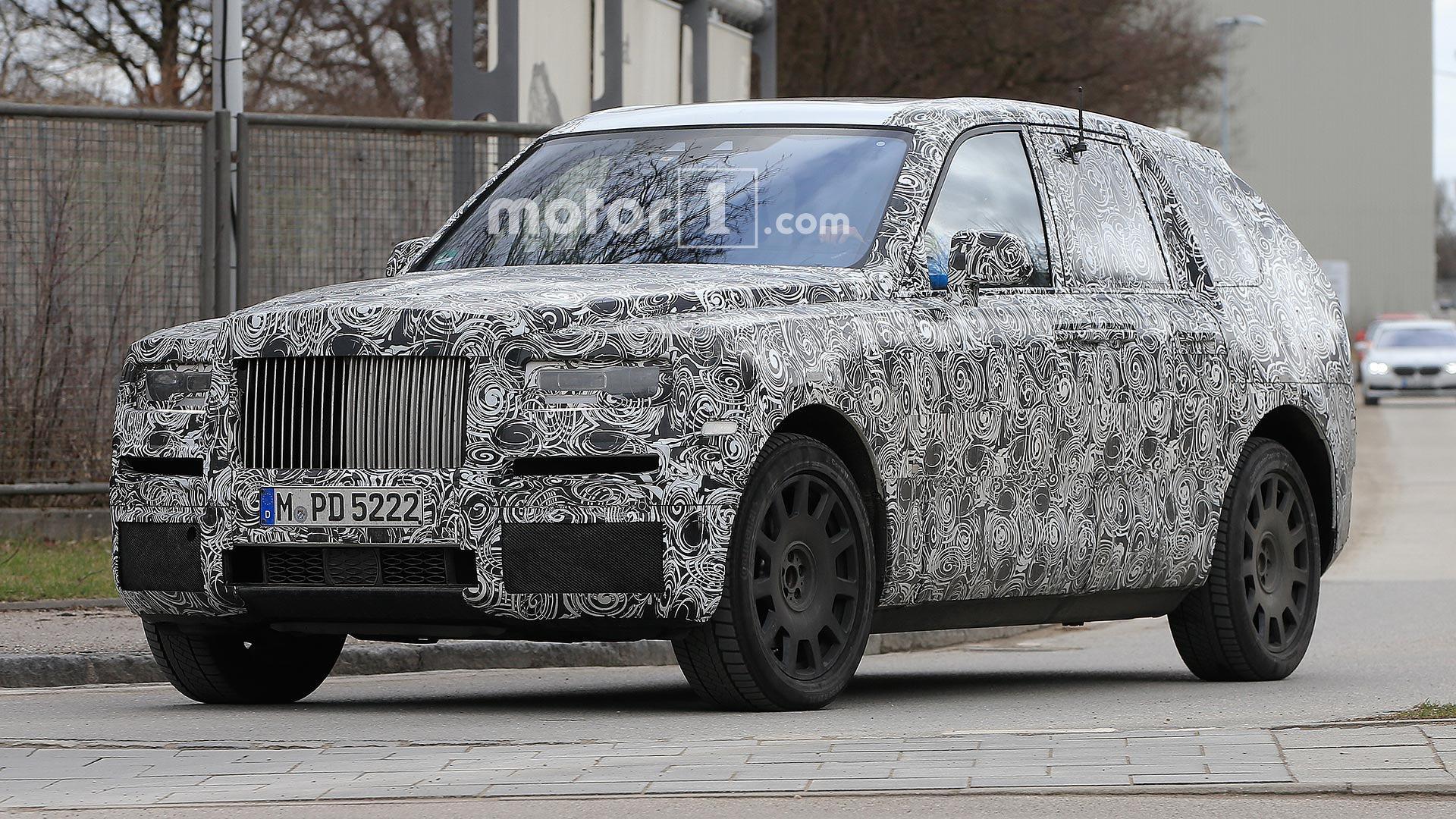 Rolls Royce Cullinan Suv Caught Testing In Europe