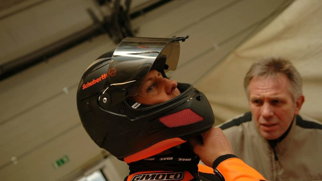 Schumacher and his Schuberth Race helmet