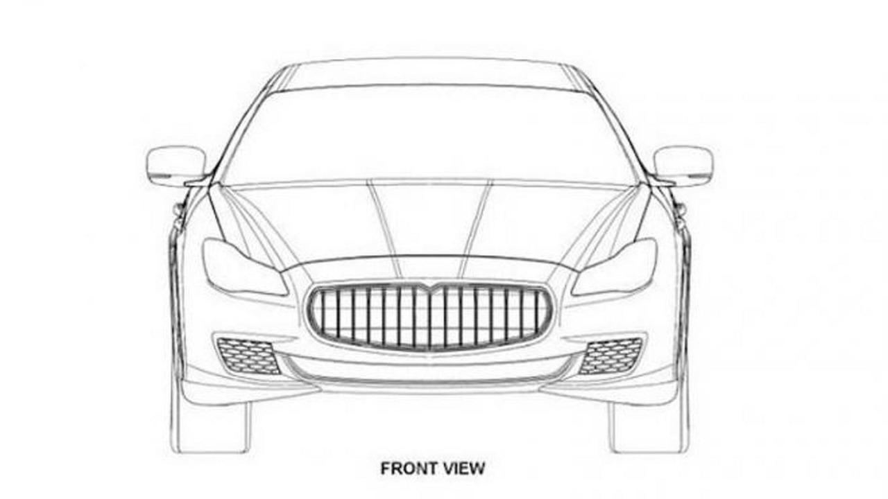 2014 Maserati Quattroporte patent drawing