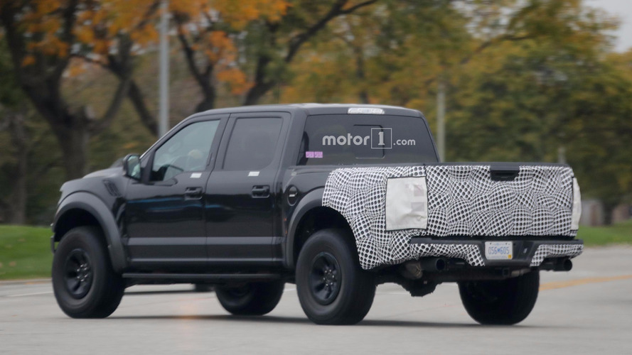 Ford F-150 Raptor spied with intriguing camouflaged rear