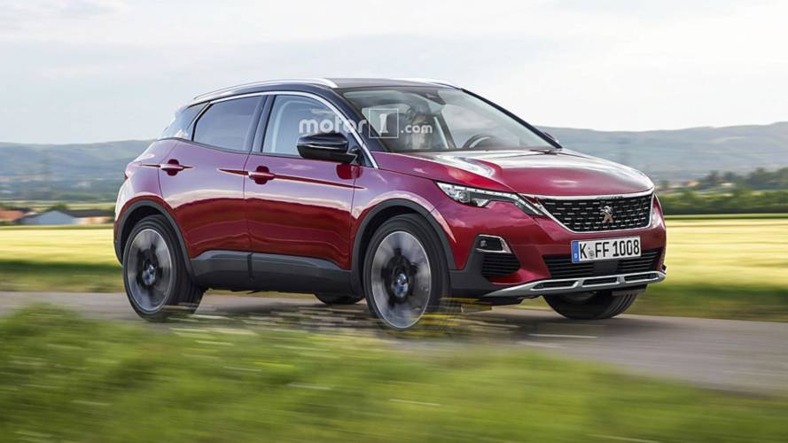 Peugeot 1008 render imagines tiny crossover with a lion badge
