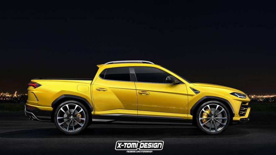Le Lamborghini Urus imaginé en pick-up