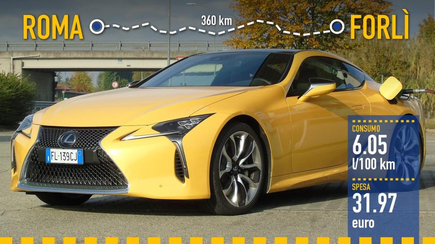 Lexus LC Hybrid, la prova dei consumi reali