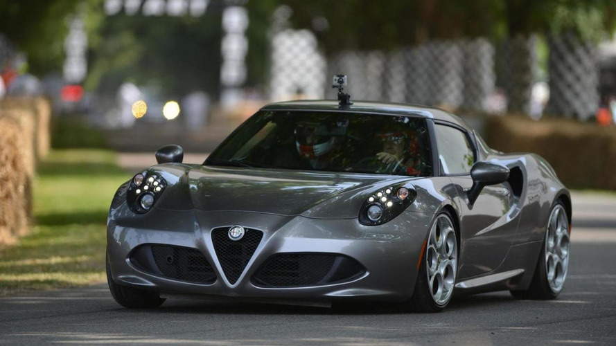Alfa Romeo 4C draws crowds at Goodwood