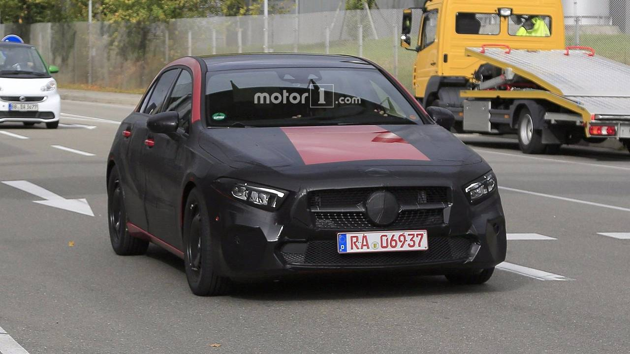 2019 mercedes a class caught with fake exhaust tips. Black Bedroom Furniture Sets. Home Design Ideas