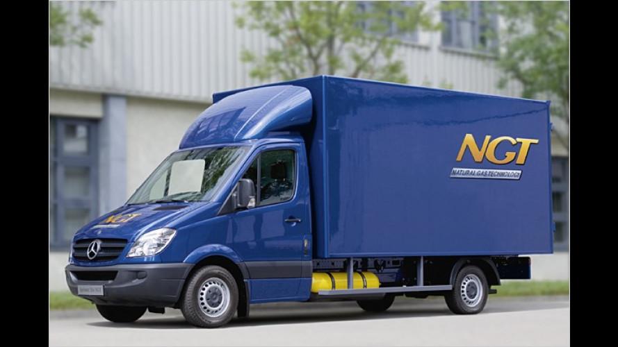 Grüner Laster: Mercedes bringt Erdgas-Sprinter