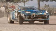 Renault Alpine rally car