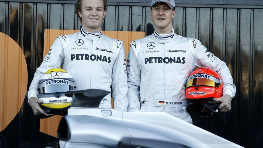 Rosberg insists Schumacher not faster