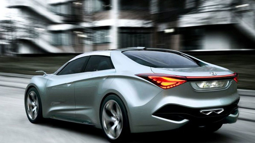 hyundai i40 four door coupe version planned rumors. Black Bedroom Furniture Sets. Home Design Ideas