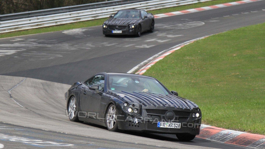 2013 Mercedes SL-Class latest spy photos at the 'Ring