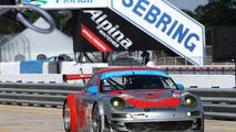 911 GT3 RSR, Flying Lizard Motorsports: Darren Law, Seth Neiman, Richard Lietz, American Le Mans Series, round 1 in Sebring, USA, qualifying, 19.03.2010