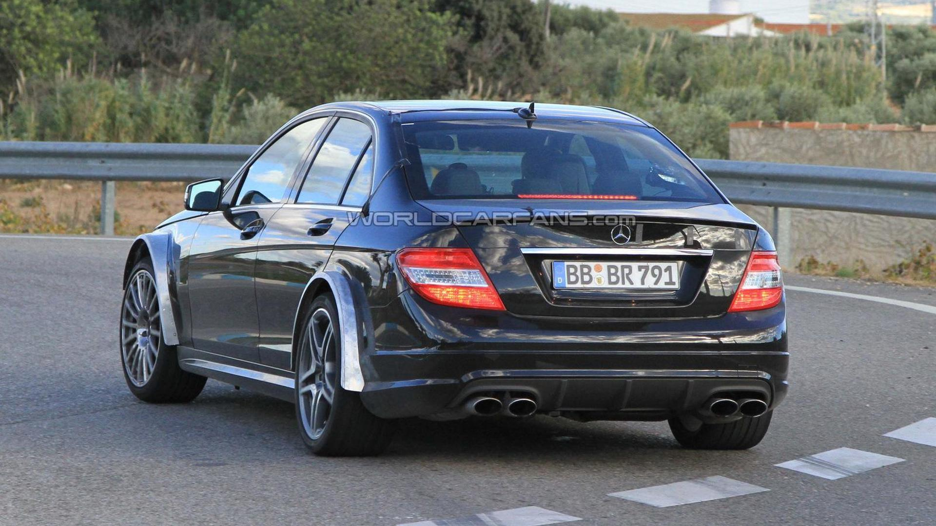 2012 mercedes c class black series spied. Black Bedroom Furniture Sets. Home Design Ideas