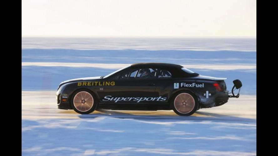 Bentley bate recorde de velocidade sobre o gelo e ganha série limitada