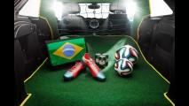 MINI Paceman que homenageia a seleção brasileira tem gramado, trave e até Pebolim