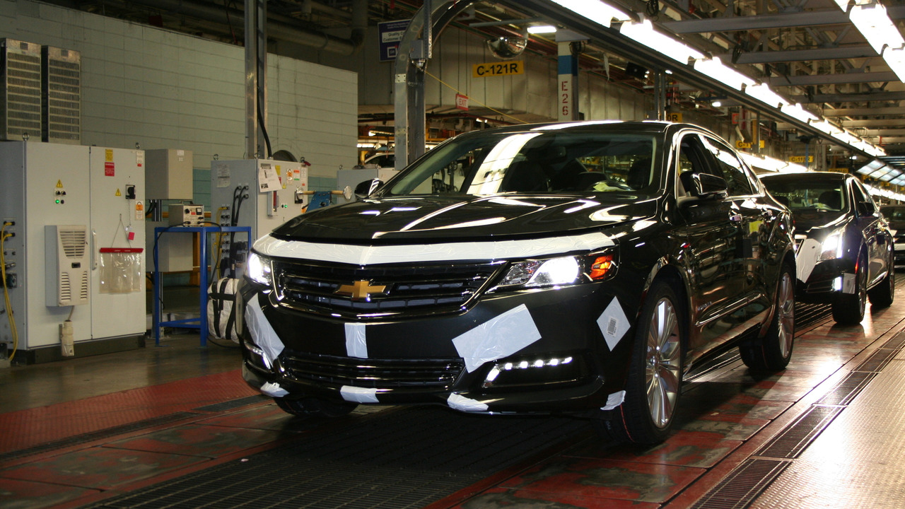 A Chevrolet Impala rolls off the line at GM's Oshawa assembly plant