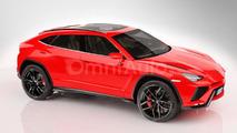 2018 Lamborghini Urus rendered based on the concept