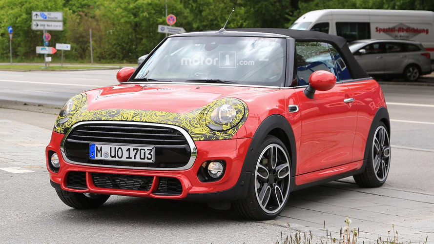 Mini Convertible And Cooper S Spied Hiding Mini Facelift